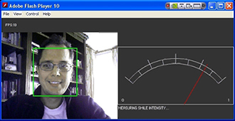 Smile detection and measurement in Flash and mobile devices (iPad, iPhone, ...)